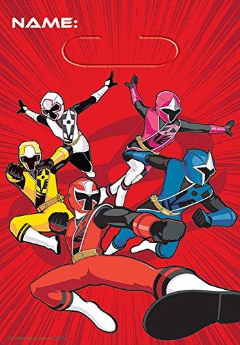 amscan - Power Rangers NS LOOT Bags - Pack of 8
