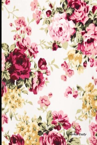 - Journal Daily: Red Rose Floral Pattern, Lined Blank Journal Book, 6 x 9, 200 Pages