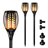 Solar Torch Lights Outdoor, Landscape Lighting Waterproof LED Flickering Dancing Flames,Solar Powered for Outdoor Decorations (Different Installed Accessories Included) Auto On/Off 2 Pack