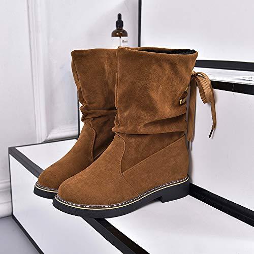 JiaMeng Zapatos de mujer Botines Martín Botas Zapatos de Mujer Tacones Altos Señoras Otoño Invierno Zapatos de tacón Cuadrado de Cristal Tobillo Navidad ...