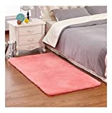 Cheap Rcbadress Fluffy Oblong Shape Shaggy Area,Anti Skid Water Absorbent Rugs Office Sitting Drawing Living Room Gateway Bedside Carpet, Soft Floor Mat for Yoga Kids Playing Pet Sleeping Coral 31″ x 47″