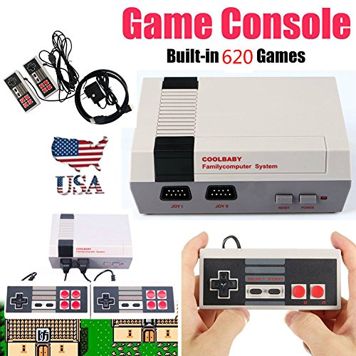 Isolation Built Transformer In (SD Mini Vintage Retro TV Game Console Classic 620 Built-in Games 2 Controllers 8Bit)