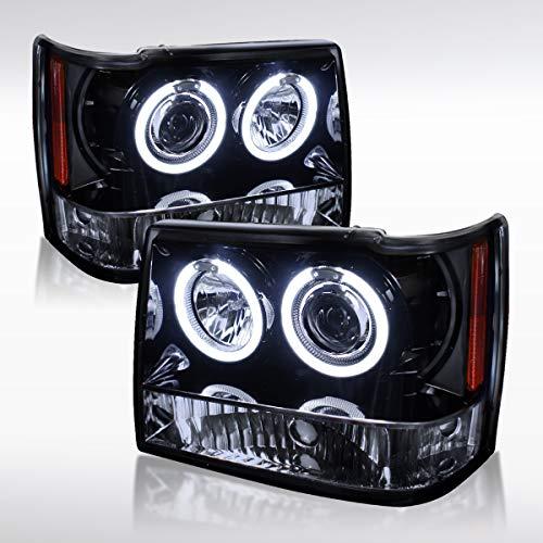 Autozensation For Glossy Black Jeep Grand Cherokee Halo Projector Headlights