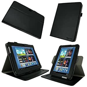 rooCASE Samsung GALAXY Note 10.1 Dual-Axis Leather Folio Case Cover (NOT compatible with GALAXY Note 10.1 2014 Edition)
