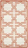 Safavieh Amherst Collection AMT413F Ivory and Orange Indoor/Outdoor Area Rug (3′ x 5′) Review