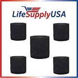 5 Pack Foam Sleeve Filter fits Shop Vac 90585 9058500 Type R 905-85 + most Shop-Vacs by LifeSupplyUSA