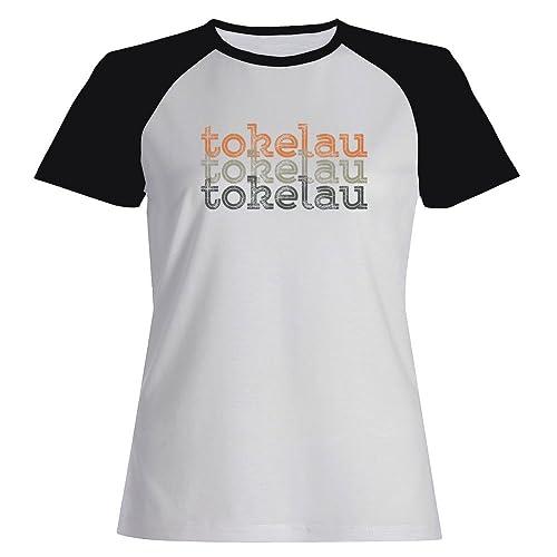 Idakoos Tokelau repeat retro - Paesi - Maglietta Raglan Donna