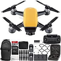 DJI Spark Portable Mini Drone Quadcopter Fly More Combo Ultimate Backpack Bundle (Sunrise Yellow)