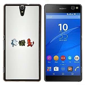 LECELL--Funda protectora / Cubierta / Piel For Sony Xperia C5 Ultra -- Personajes P0kemon --