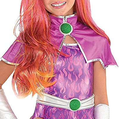 Suit Yourself Starfire Halloween Costume for Girls, DC Super Hero Girls, Includes Accessories: Clothing