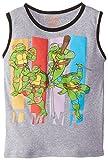 Teenage Mutant Ninja Turtles Little Boys' Toddler Turtles Group Shot Vertical Colors Tank, Heather Grey, 3T