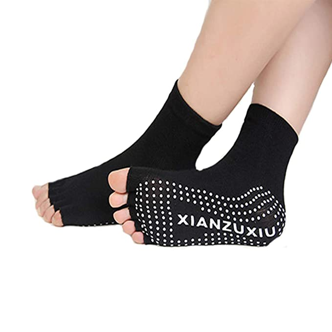 FORLADY Professional Yoga Socks Finger/Finger/Backless/Road ...