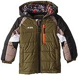 F.O.G. by London Fog Little Boys' Color Block Snowboard Coat, Olive Drab, 4