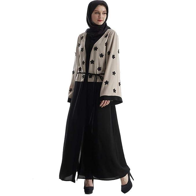 Randolly Women's Dresses, Abaya Dubai Muslim Lace Women Open