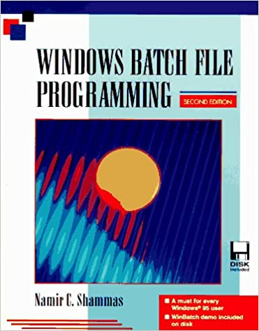 Windows Batch File Programming