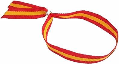 vendopolis Pulsera Cinta Textil Bandera España Española Cierre Ajustable: Amazon.es: Joyería