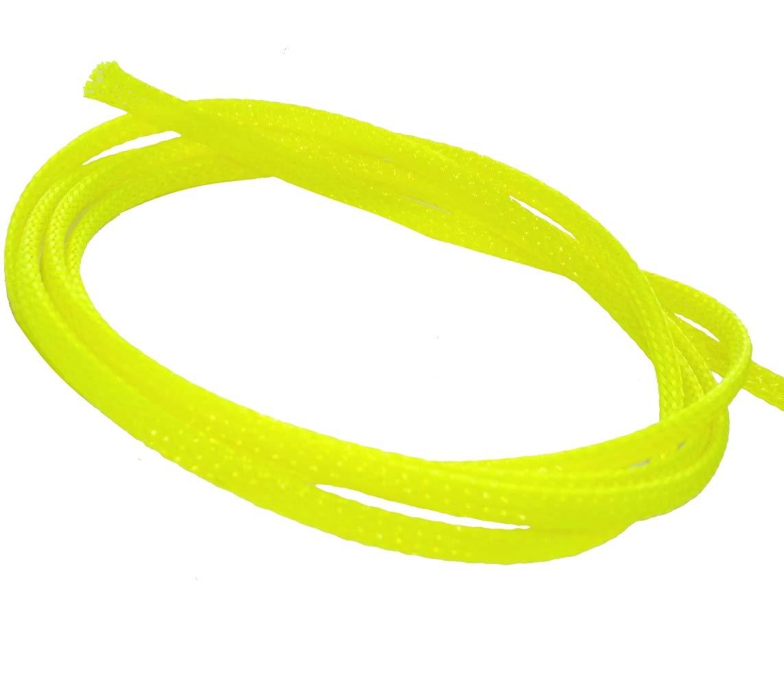 4.5 metros 4mm 3-7 Funda trenzada termorretr/áctil para cables el/éctrico mangas trenzadas amarillo C41308 AERZETIX