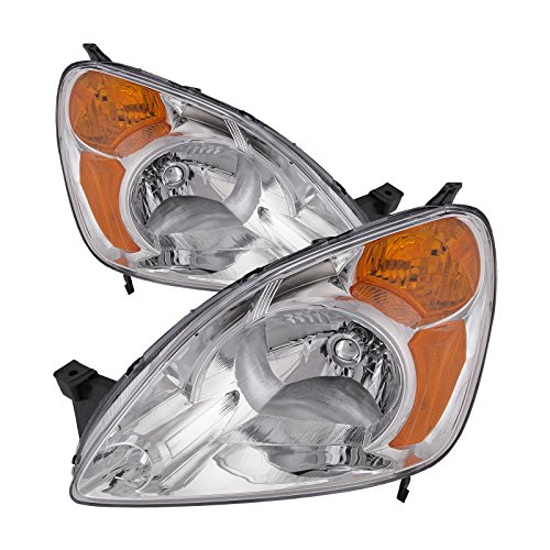 - Headlights Depot Replacement for Honda CRV Headlights Headlamps OE Style Replacement Driver/Passenger Pair New