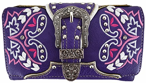 Oculto Llevar Mujeres Bohemia wallet-purple