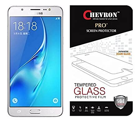 Chevron C7 2.5D Tempered Glass Screen Protector for Samsung Galaxy On8 Screen guards