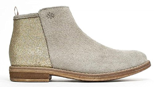 Spain beige gold acebos Chelsea Glitzer taupe Stiefel Boots Leder Acebo´s ZUAq5wY