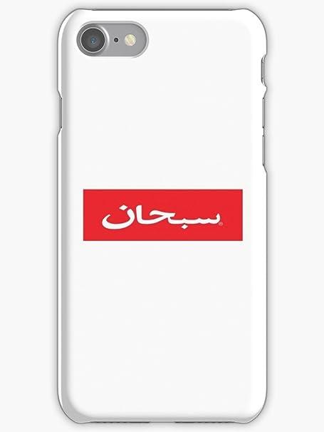 Arabo Supreme Logo Plastica Bianco Su Sfondo Rosso Logo Apple Iphone