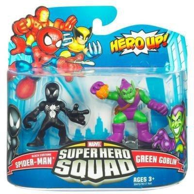 Marvel Super Hero Squad 21: Black Costume Spider-Man & Green Goblin (Goblin Spiderman Costume Green)