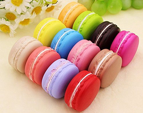 XYTMY Fake Macaron France Style High Simulation Artificial Dummy French Macaroon Studio Prop DIY Decoration Accessories, 12 PCS by XYTMY
