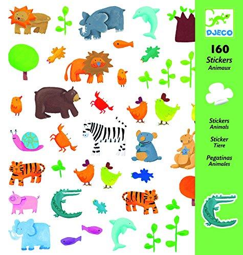Djeco Animal Stickers (160 pc)