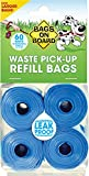 Bags on Board Dog Waste Pickup Bags, 60 bags, Multiple Colors