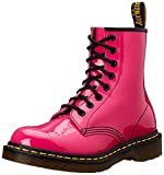 Dr Martens 1460 Pink Patent 8 eyelets Womens Leather Shoes Boots -5