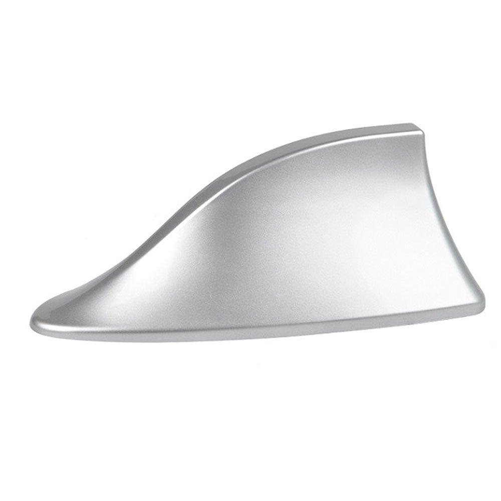 Universal Auto Antenne LA TECH Universal Auto Shark Haifischflosse Antenne AM&FM Dachantenne Aluantenne 17cm Silber Autoantenne mit Verstärker ABS Silber M018-SILVER…