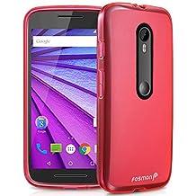 Fosmon Motorola Moto G (3rd Gen, 2015) (DURA-FRO) Slim-Fit Flexible TPU Gel Case Cover for Motorola Moto G (3rd Gen, 2015) (Hot Pink)