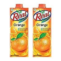 Real Orange Juice, 1L (Pack of 2)