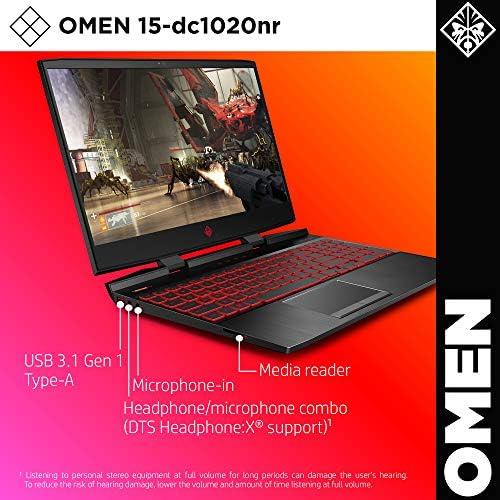 Omen by HP 2019 15-Inch Gaming Laptop, Intel i7-9750H Processor, NVIDIA GTX 1660Ti (6 GB), 8 GB RAM, 256 GB SSD, VR Ready, Windows 10 Home (15-dc1020nr, Black) 510EDNXhXtL