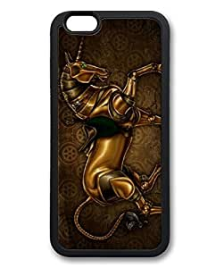 "iPhone 6 Plus Case, iCustomonline Steampunk Unicorn Case for iPhone 6 Plus (5.5"") TPU Material Black by mcsharks"