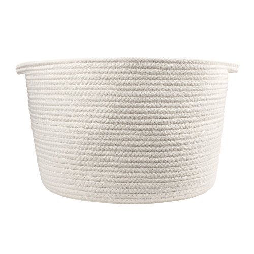 Storage Baskets Cotton Rope Large Organizer Containers Home Decor for Nursery, Laundry, Toy Storage, 14