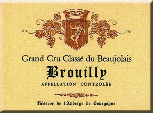 FRENCH VINTAGE MAGNET 6x8cm BEAUJOLAIS BROUILLY GRAND CRU CLASSE - MM136