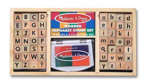 Melissa & Doug Deluxe Stamp Bundle: Alphabet, Friendship, and Animal Sets