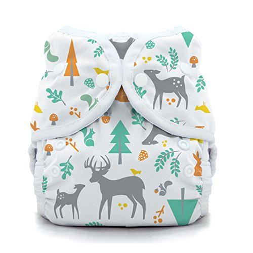 Thirsties Snap Duo Wrap, Woodland, Size One (6-18 (Wrap Snap)