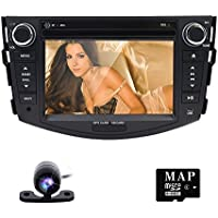 Double 2Din Car Stereo DVD GPS Navigation Radio Player For Toyota Rav4 2006-2012 Backup Camera