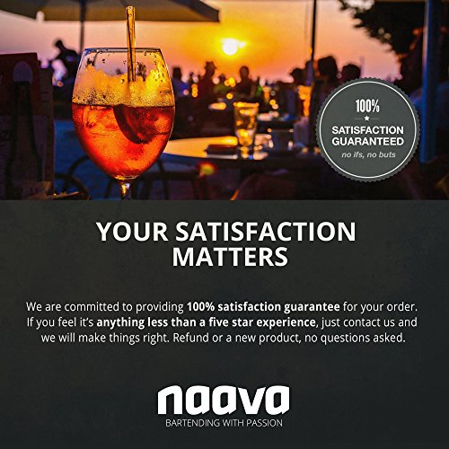 Home Cocktail Bar Set by Naava – Stainless Steel 10 Piece Mixology Tool Kit – With Bartender's Professional Shaker, Strainer, Jigger, Liquor Pourers and More – Attractive Gift Box and 100% Guarantee by Naava (Image #6)