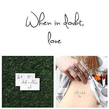 Tatuaje Temporal Tattify - Frase de Amor – Respuestas (Juego de 2 ...