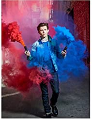 Tom Holland as Peter Parker in Spider-Man: Homecoming Walking Through Blue/Red Smoke 8 x 10 Inch Photo