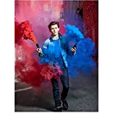 #6: Tom Holland as Peter Parker in Spider-Man: Homecoming Walking Through Blue/Red Smoke 8 x 10 Inch Photo