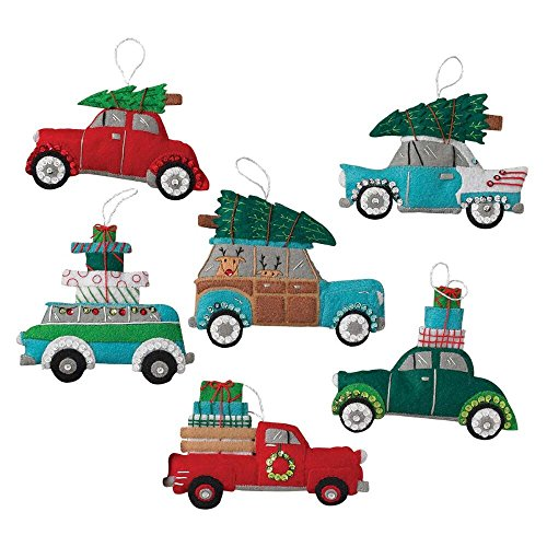 - Bucilla Felt Applique Ornament Kit, 6 by 4 inch, 86836 Holiday Shopping Spree (Set of 6)