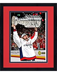 """Framed Alex Ovechkin Washington Capitals 2018 Stanley Cup Champions Autographed 16"""" x 20"""" Raising Cup Photograph - Fanatics Authentic Certified"""