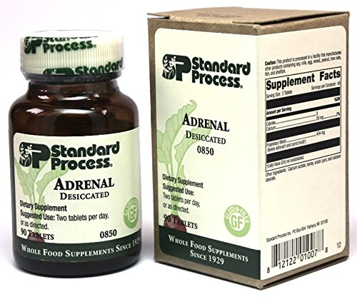 Standard Process- Adrenal Desiccated / Adrenal Support for Energy Production, Immune System Function and Adrenal Health, Gluten Free, 90 Tablets (Standard Adrenal Process)
