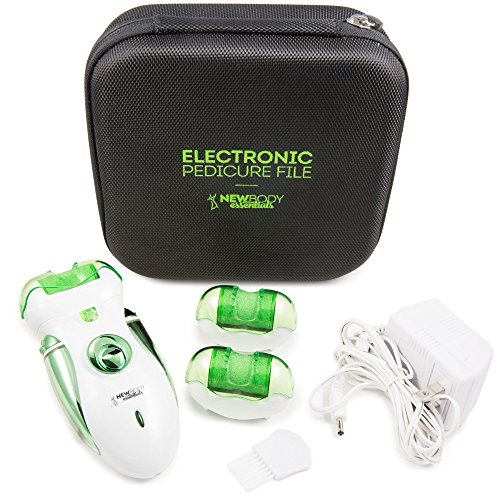 Electric Callus Remover And Shaver - The Best Electric Foot File. Two Speeds! Rechargeable Hard Skin Removal For Cracked Heels + Feet. The Best Home Pedicure Tool For Foot Callous + Corn Treatment!