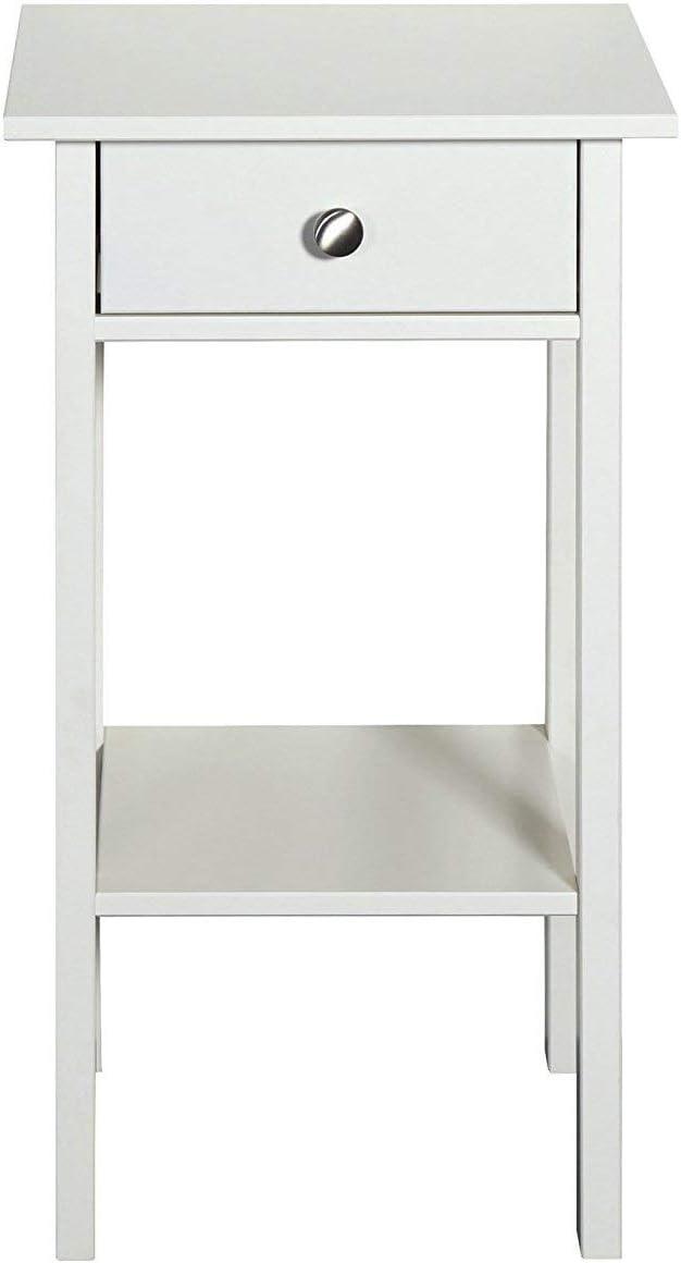 MDF Holz 40 x 35 x 70 cm grau Loft24 Tico Beistelltisch Nachttisch Nachtkonsole Nachtschrank Lampentisch Telefontisch 1 Schublade